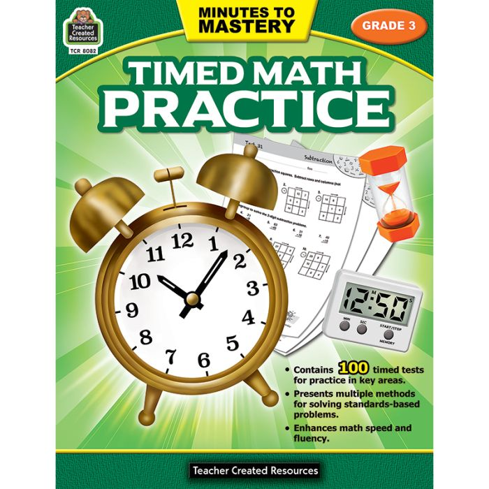 Minutes To Mastery - Timed Math Practice, Grade 3